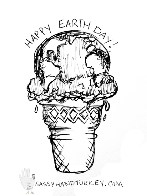Earth Ice Cream Cone