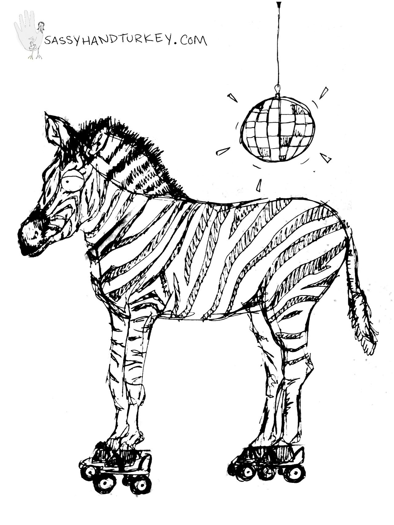 roller disco zebra